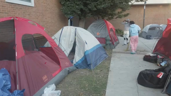 Howard University students form campus tent city to protest housing conditions