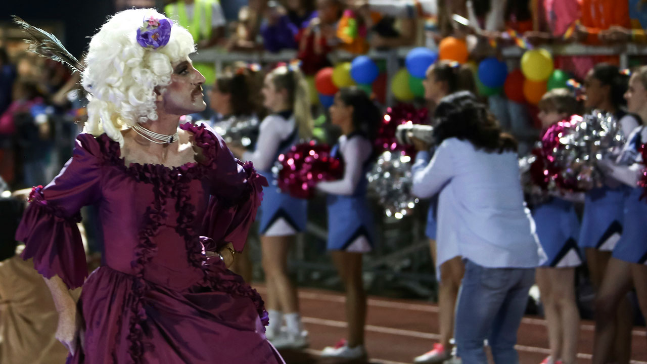 Vermont high school's halftime show is a drag pageant