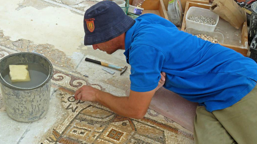 Rare 1,500-year-old mosaic depicts unusual scene