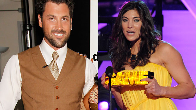 Maksim Chmerkovskiy and Hope Solo Split 660