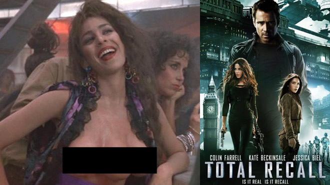 three tits total recall