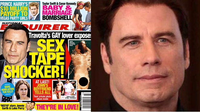 A pilot who claims to have been John Travolta's gay lover in the 1980s said ...