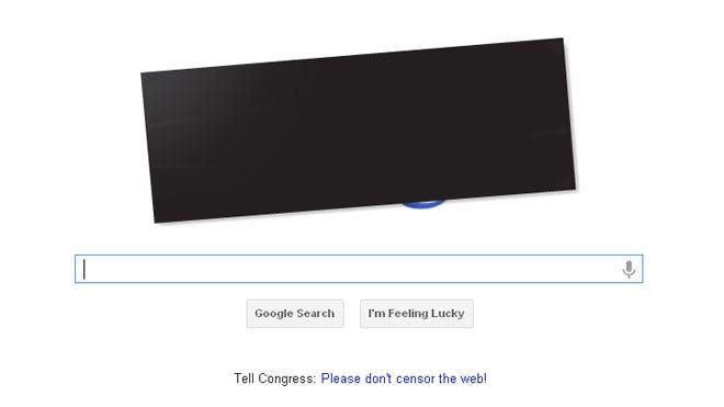 Google Anti-SOPA Doodle