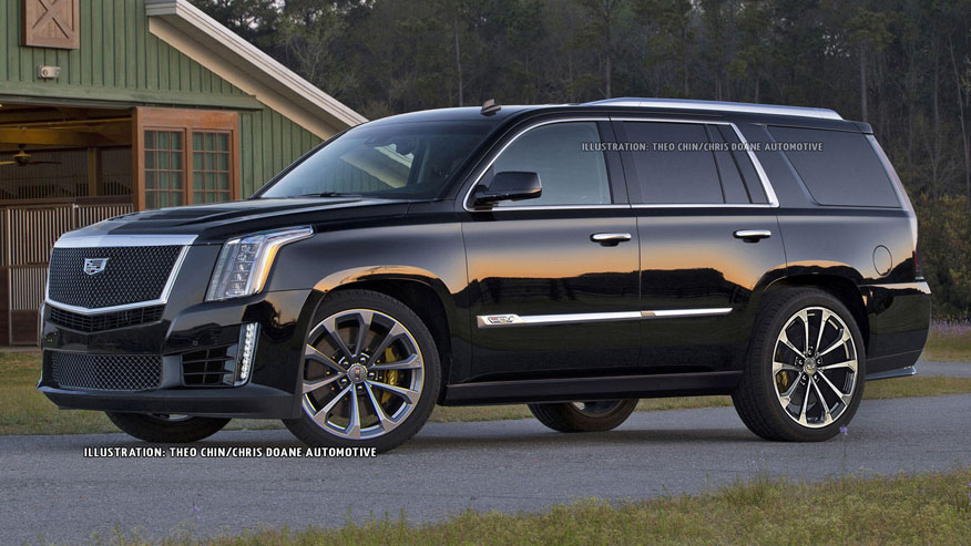 Speculative rendering of cadillac escalade v theo chin chris doane