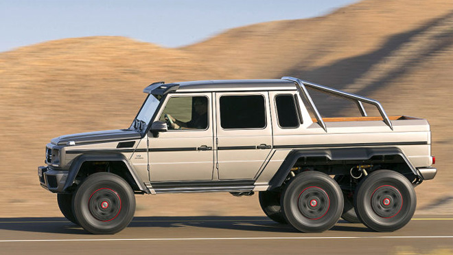 World of auto enthusiasts unveiled 2014 mercedes 6x6 g63amg for Used mercedes benz truck
