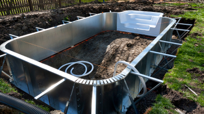Should i get an in ground or above ground pool fox news - Above ground pool steps diy ...