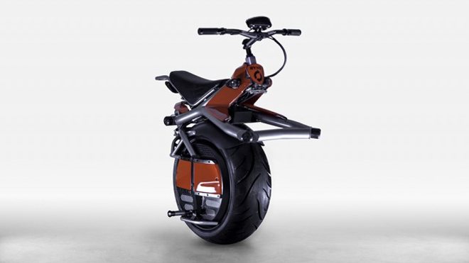 Taking a spin on Ryno's one-wheeled, self-balancing electric 'microcycle'