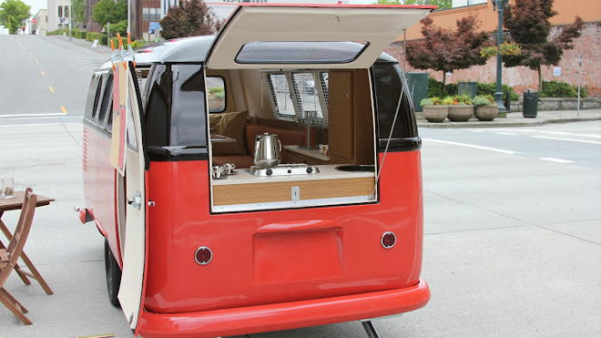 VW Bus conversion for possible tailgating trailer? | TexAgs