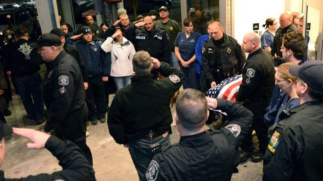 K 9 Laid To Rest Alongside Officer Killed In Crash By