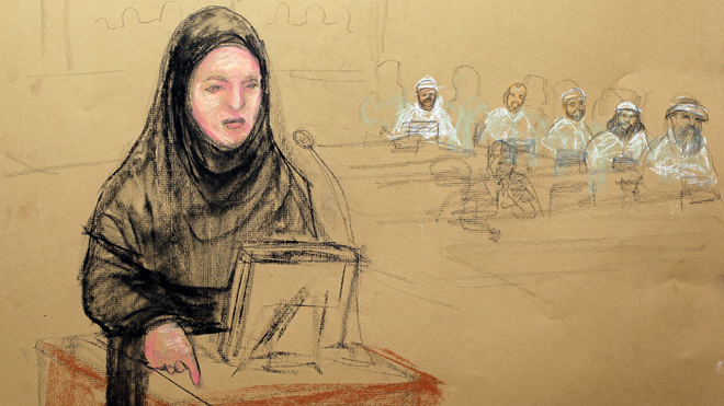 Attorney in hijab defends call for other women at 9/11 hearing to wear appropriate clothing to respect Muslim client