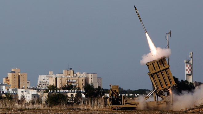 Rocket Launch, Mid East Conflict, Israel Gaza Conflict, Iron Dome launcher