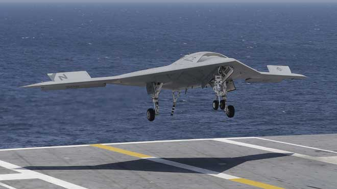 X-47B Successfully Lands on an Aircraft Carrier