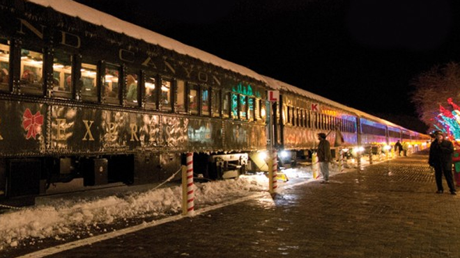 Polar Express themed trains run the rails across the US, UK and Canada