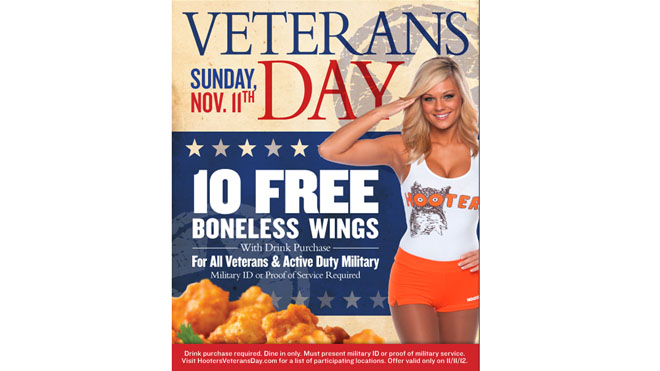Nine restaurants offering free food for vets fox news for Does olive garden give military discount