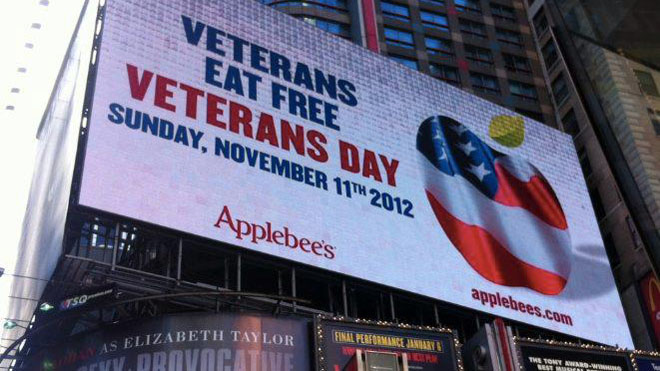 Nine Restaurants Offering Free Food For Vets Fox News