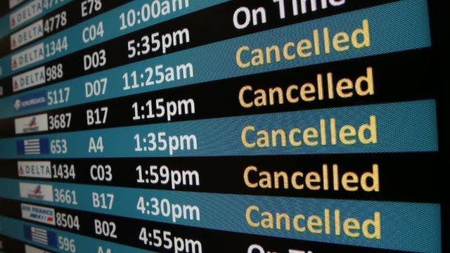 Aeroports cancellations