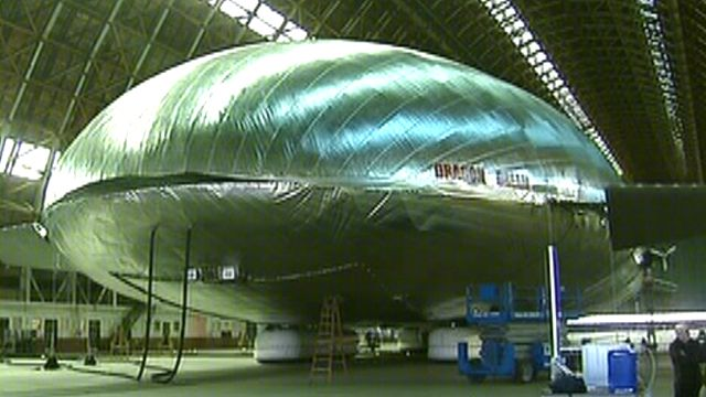 The blimps are back! Massive airship off to a flying start