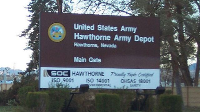 Deadly explosion at Nevada's Hawthorne Army Depot prompts suspension of 60mm mortars