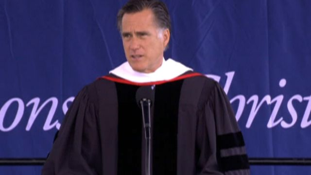 Romney addreses gay marriage issue at Liberty Univ, saying 'one man and one ...