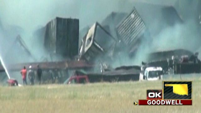 Train in Okla. collision failed to take side track