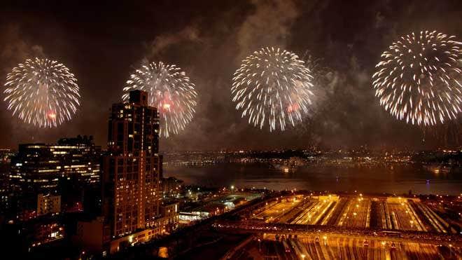 美国民众庆祝独立日
